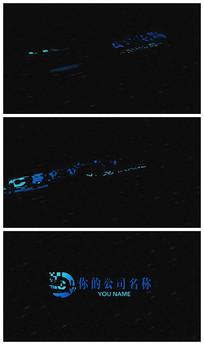 大气信号干扰logo演绎AE视频模板