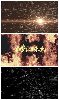 火焰logoAE视频模板