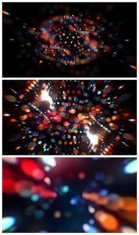 七彩光晕演绎logoAE视频模板