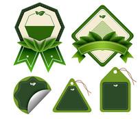 原创元素绿色环保便签