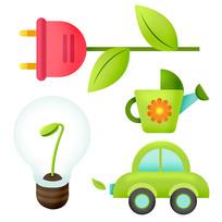 原創元素清新環保元素