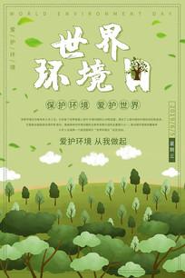 创意世界环境日海报