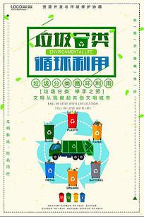 大气简洁垃圾分类回收公益海报
