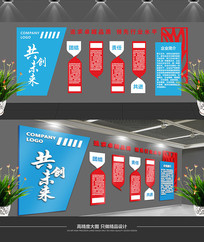 简约公司文化墙设计