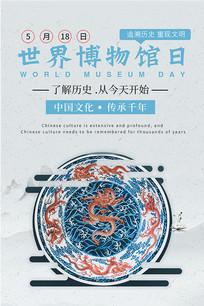 中国风世界博物馆日海报