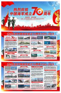 中国海军成立70周年党建宣传展板