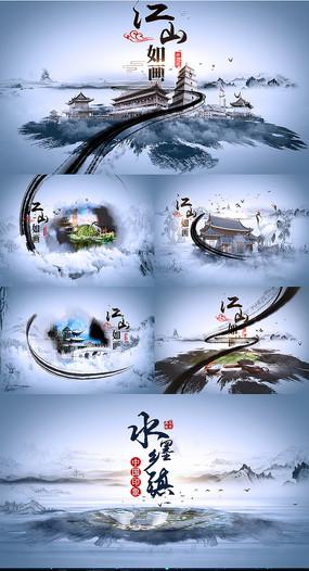 大气中国风水墨图文展示AE模版