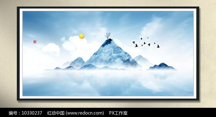 风景水墨画装饰画图片