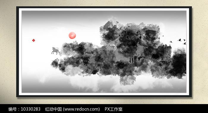 古典风水画中堂画图片