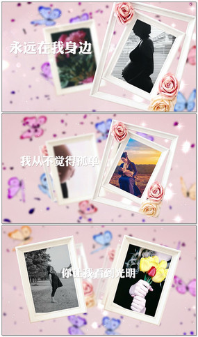 母亲节温馨浪漫相册AE模板