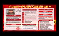庆祝纪念改革开放40周年宣传栏展板