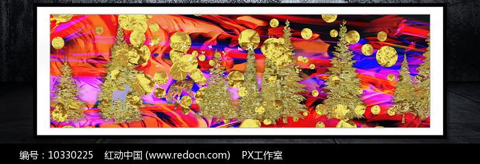 色彩新中式冰晶画图片