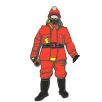 矢量消防员元素