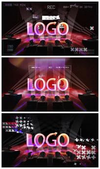时尚娱乐节目开场演绎LOGO视频模板