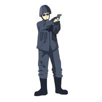 手绘警察人物元素