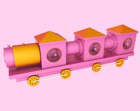 原创卡通玩具小火车元素
