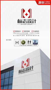 财富建筑logo设计商标标志设计 AI