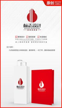 高楼建筑logo设计商标标志设计