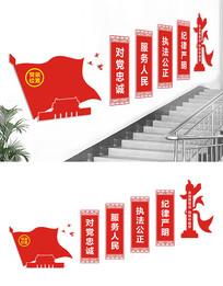 基层楼梯党建文化墙设计