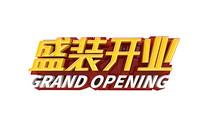 盛装开业立体字设计