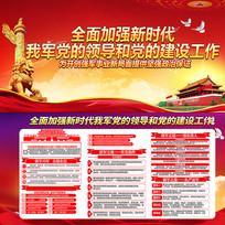 图解中央军委党的建设会议展板