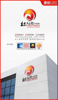 祥云朝阳logo设计商标标志设计 AI