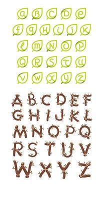植物英文字母元素