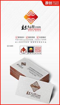 中国结祥云logo设计商标标志设计