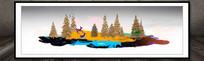 中式风景画水晶画