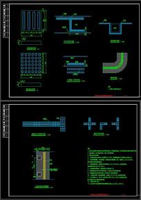 CAD盲道大样及人行道砖铺装样式标准图