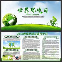 大气的世界环境日展板