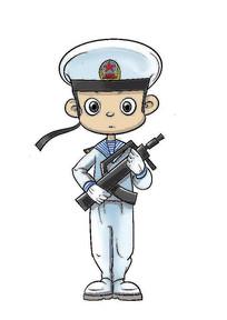 海军人物插画