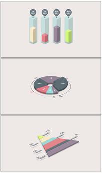 简洁商业数据图形展示视频模板