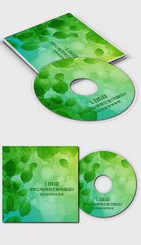 绿色树叶光盘封面设计 PSD