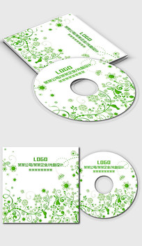 绿色藤蔓环境环保行业光盘封面设计 PSD