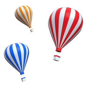 热气球旅行儿童节装饰元素