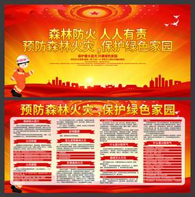森林防火宣传展板设计