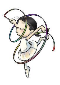 小小舞蹈员插画