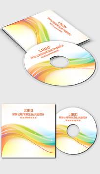 多彩彩色动感线条光盘封面设计 PSD