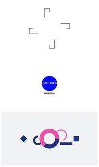 简洁线条 logo演绎视频模板