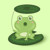 原創可愛卡通青蛙元素