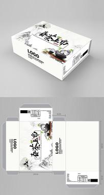 中国风茶叶包装盒设计 PSD