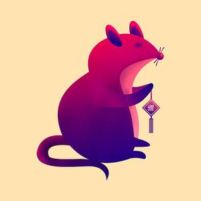 2020年鼠年老鼠元旦春节卡通元素
