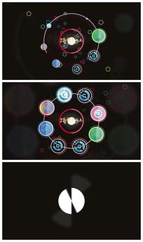 简洁图形演绎logo视频模板