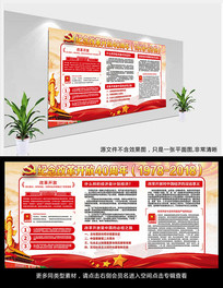 纪念改革开放40周年宣传栏