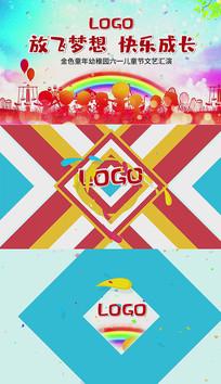 六一儿童节卡通ae片头视频模板
