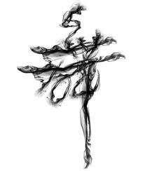 水墨舞字艺术字设计