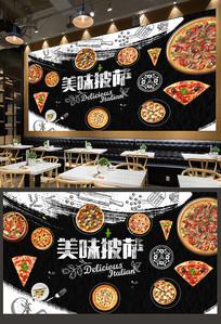 西餐厅披萨背景墙