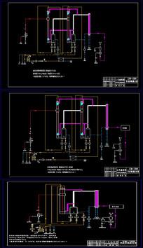 12吨双效蒸发器工艺流程图果汁CAD设计