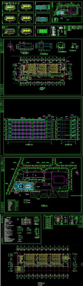 CAD大学教学楼全套建筑图 CAD